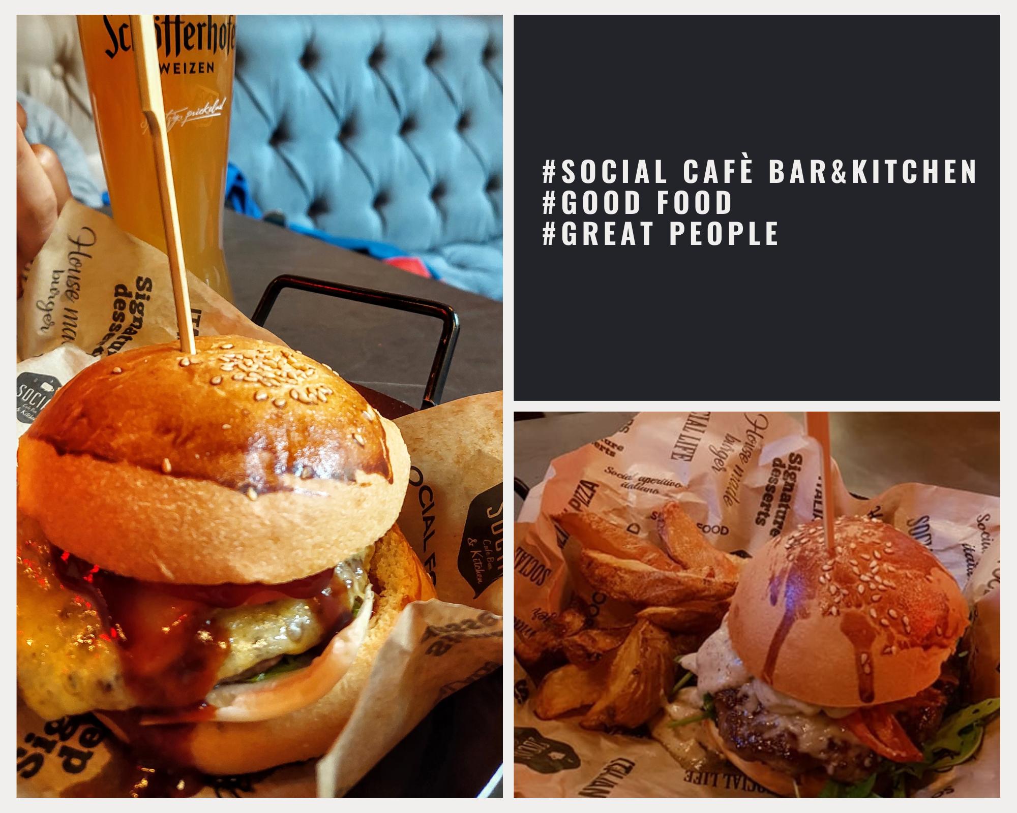 Бъргър Social Cafè Bar&Kitchen
